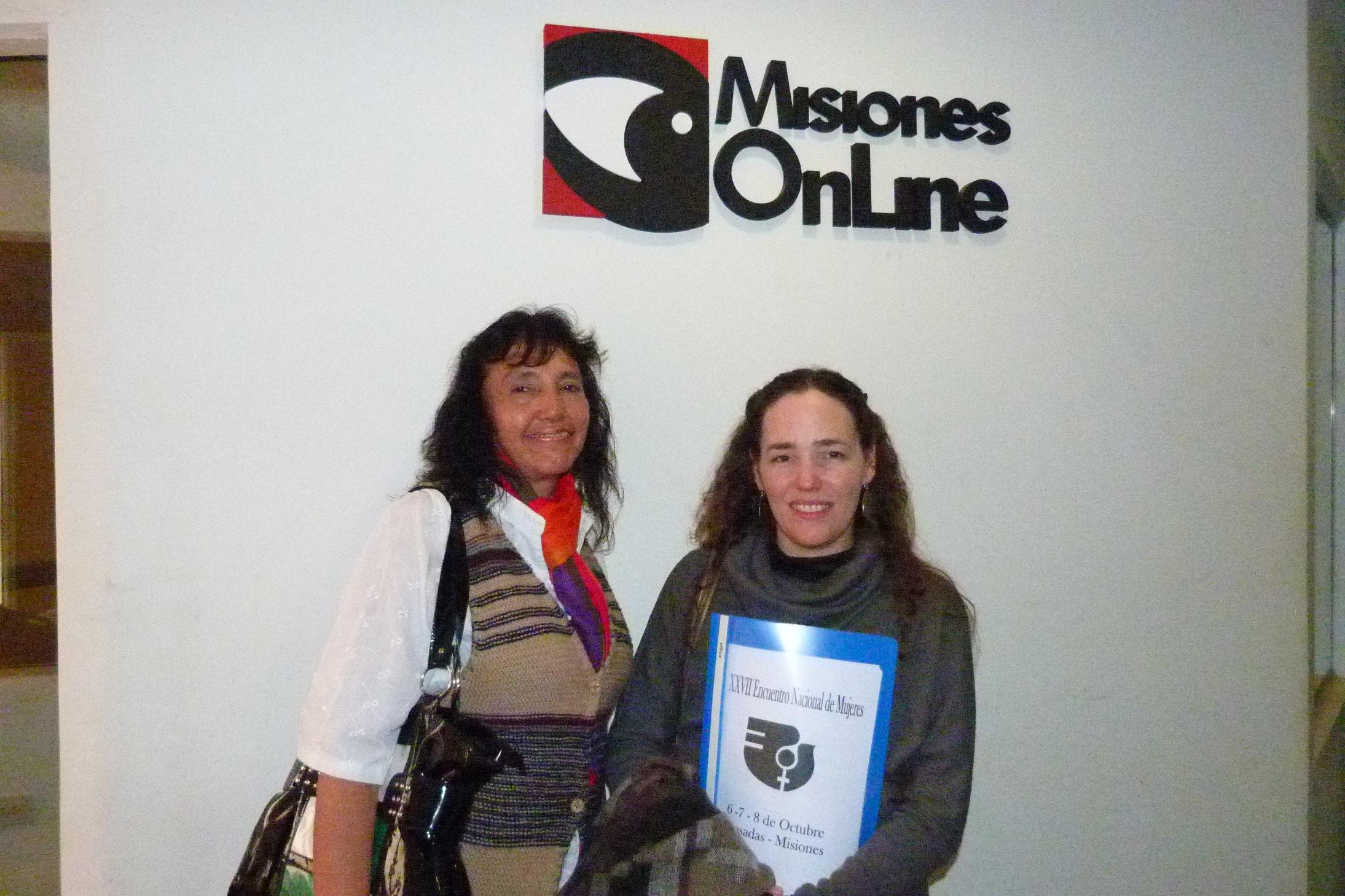 Liliana Neriz y Victoria Rosenfeld, de la comisión organizadora del evento.