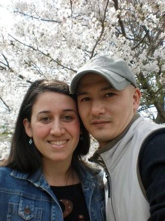 Dante con su esposa Norma Hackbartt, están en Japón desde el 2007