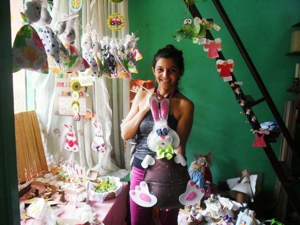 Natalia Rossi preparó muchos conejos de todo tamaño para esta Semana Santa.