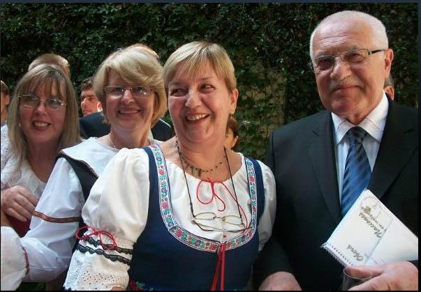 Sylva Berková con Václav Klaus en Argentina.