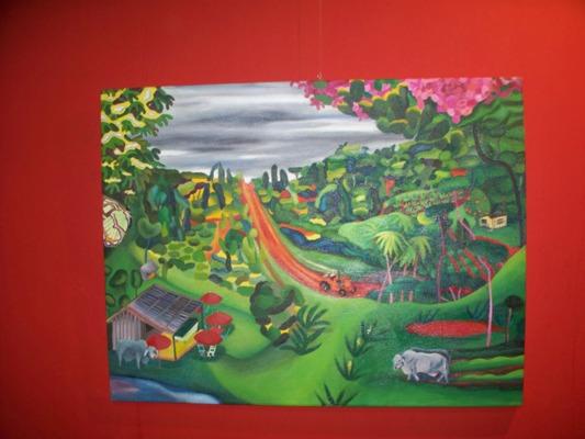 Daniela Kantor se refugia en la selva para inspirarse en sus pinturas.