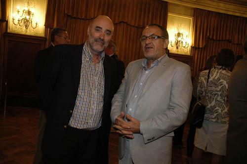El subsecretario de Agricultura, Ganadería y Pesca, Marcelo Yasky, junto al subsecretario de Desarrollo Forestal de Misiones, Juan Gauto.
