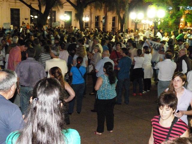 La Plaza 9 de Julio en Posadas fue el escenario de la manifestación