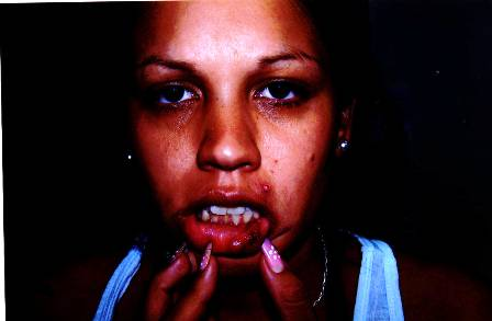 Nadia Leveratto denuncia que la policía la golpeó y que su embarazo de siete meses corre peligro.