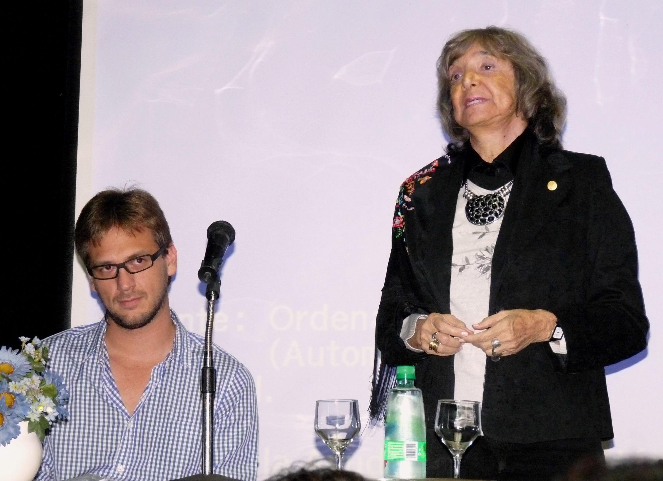 Sebastián Borkoski y Olga Zamboni ayer en el Montoya.
