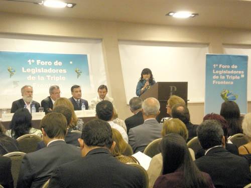 Apertura. La diputada Julia Perié disertó en el encuentro de legisladores.