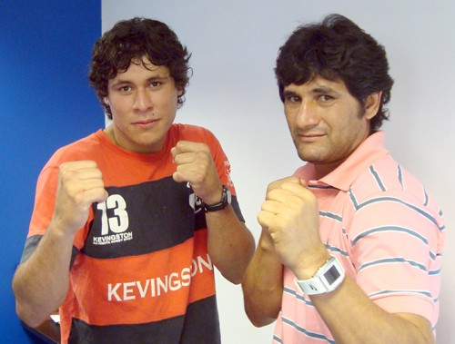 De izq a der: Javier Andino y Rafael Espínola.