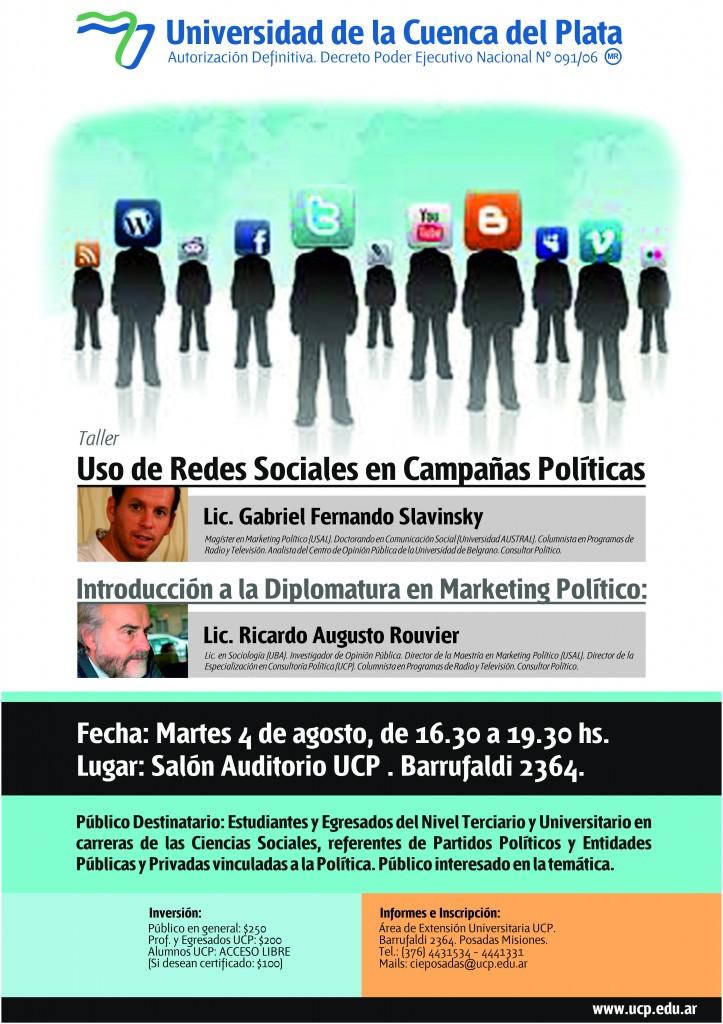 afiche uso de redes sociales en campañas políticas