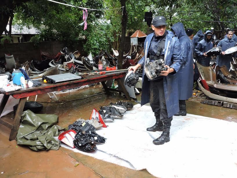 La Policía desintegró una organización dedicada a la venta ilegal de autopartes en Posadas