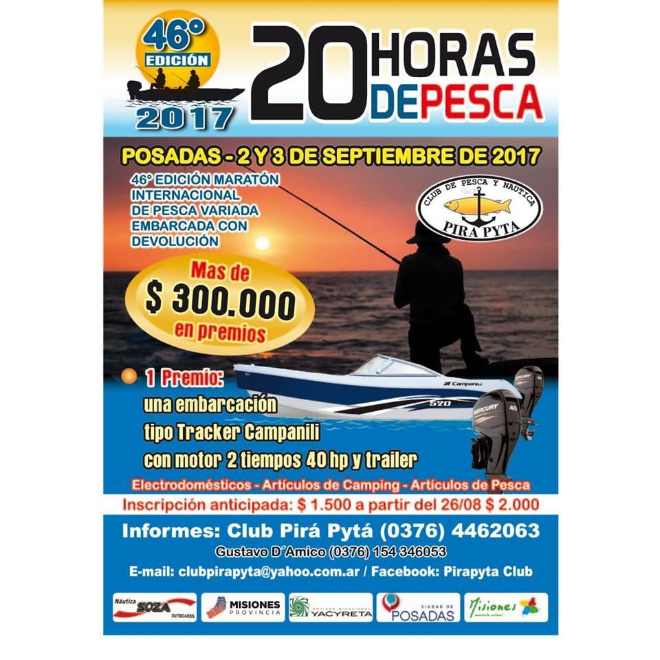 2 Y 3 de setiembre a pescar las 20 Horas del Pirá Pyta: Ingresá ahora, inscribite desde Compras Misiones, pagás en cuotas y te ahorrás $500