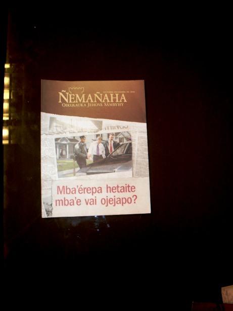 Los Testigos de Jehová publican revistas en idioma guaraní.