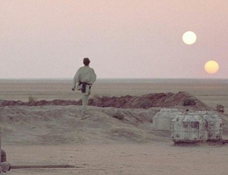 El cielo podría verse así, como en la película Stars Wars.