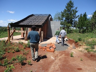 Secadero de madera solar en San Pedro.
