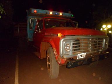 Los tareferos viajaban en un viejo Ford 7000