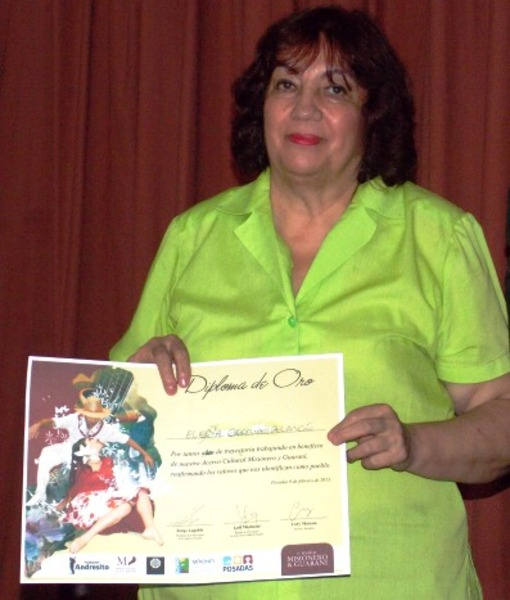 Elena Alarcón también fue destacada por sus actividades socioculturales.