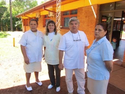 Trabajadores/as de la salud, Celia, Miguel Angel, Olimpia y Ramona.