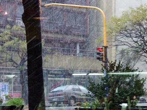 Está nevando en Buenos Aires