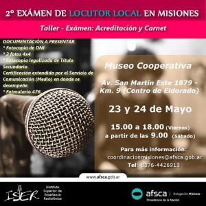 AFSCA Misiones organiza taller con examen para locutores locales en Eldorado