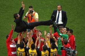 El Atlético de Simeone empató con Barcelona y es el campeón de la Liga