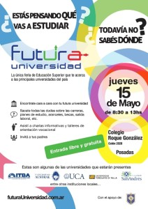 Prestigiosas universidades locales y de Buenos Aires en la feria del colegio Roque González
