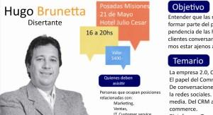 Hugo Brunetta dictará un seminario sobre Community Management