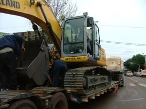 Eldorado: Llegó la excavadora hidráulica sobre oruga