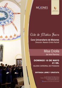 Hoy se realiza el Ciclo de Música Sacra en la Catedral de Posadas