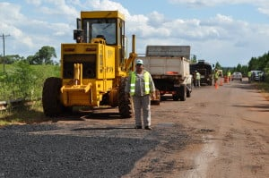 Vialidad provincial repara las rutas Nº 8 y Nº 6
