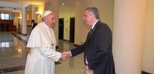 Francisco y Passalacqua compartieron un cálido encuentro en Santa Marta