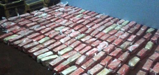 Secuestraron 600 kilos de marihuana en Salto Encantado