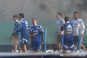Sin Di María ni Lavezzi, la Selección cumplió su primera práctica de fútbol
