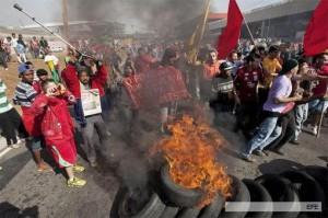 Nueva jornada de protestas en Brasil a cuatro semanas del Mundial