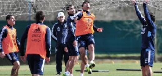 Argentina realiza la primera práctica rumbo al Mundial de Brasil