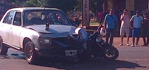 Un motociclista murió en choque en avenida Quaranta casi Las Heras