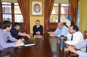 Passalacqua recibió a los dirigentes del gremio de la construcción