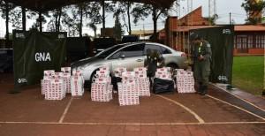 Gendarmería incautó cigarrillos de contrabando y detuvo a dos personas