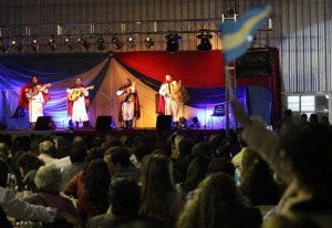 """La tradicional Peña Folklórica de la """"6 de Junio""""  hizo bailar a toda la familia posadeña"""