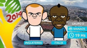 Inglaterra e Italia, dos campeones del mundo que debutan en Brasil