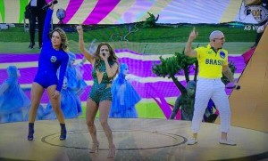 Jennifer López cantó en la ceremonia inaugural de la Copa del Mundo 2014
