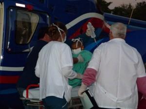 Continúa estable el niño trasladado de Montecarlo en helicóptero