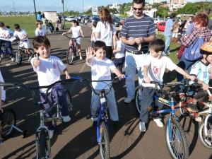 Se realizó la bicicletada solidaria del Instituto Jardín Modelo