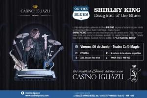 """Casino Iguazú presenta este viernes a Shirley King """"la hija del blues"""""""