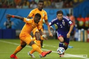 Mundial: Costa de Marfil lo dio vuelta en pocos minutos y derrotó a Japón