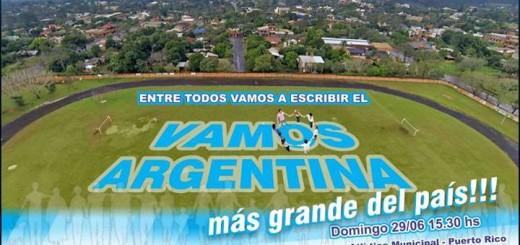 """Quieren hacer el """"Vamos Argentina"""" más grande del país"""