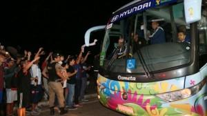 Locura en Belo Horizonte: tres cuadras de cola para ver la práctica argentina