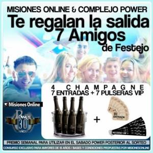 """Misiones On Line y Complejo Power te regalan """"Una noche con 7 amigos"""""""