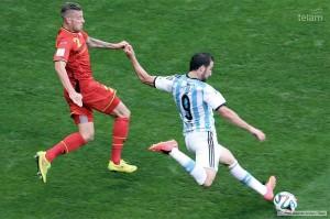 """""""No nos conformamos"""", dijo el goleador del partido"""