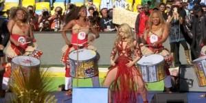 Shakira, Santana, Alexandre Pires e Ivete Sangalo vistieron de fiesta el acto de cierre del Mundial 2014