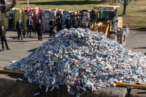 Quemaron 822.023 atados de cigarrillos de contrabando incautados en Misiones