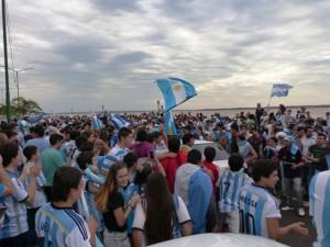 Así se festejó el pase de Argentina a las semifinales del Mundial